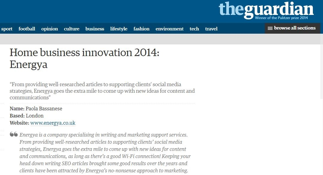 social media and freelance writing featured in the guardian