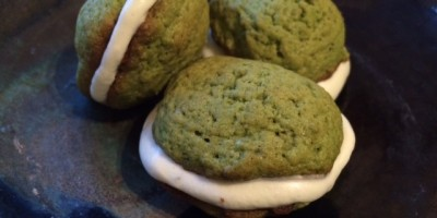 Matcha whoopie pies with matchamallows