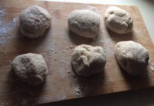 Uncooked pitta bread