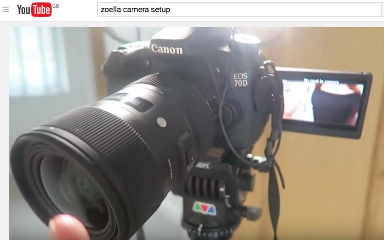 zoella's camera