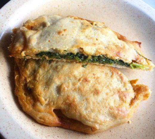 wild spinach flatbread
