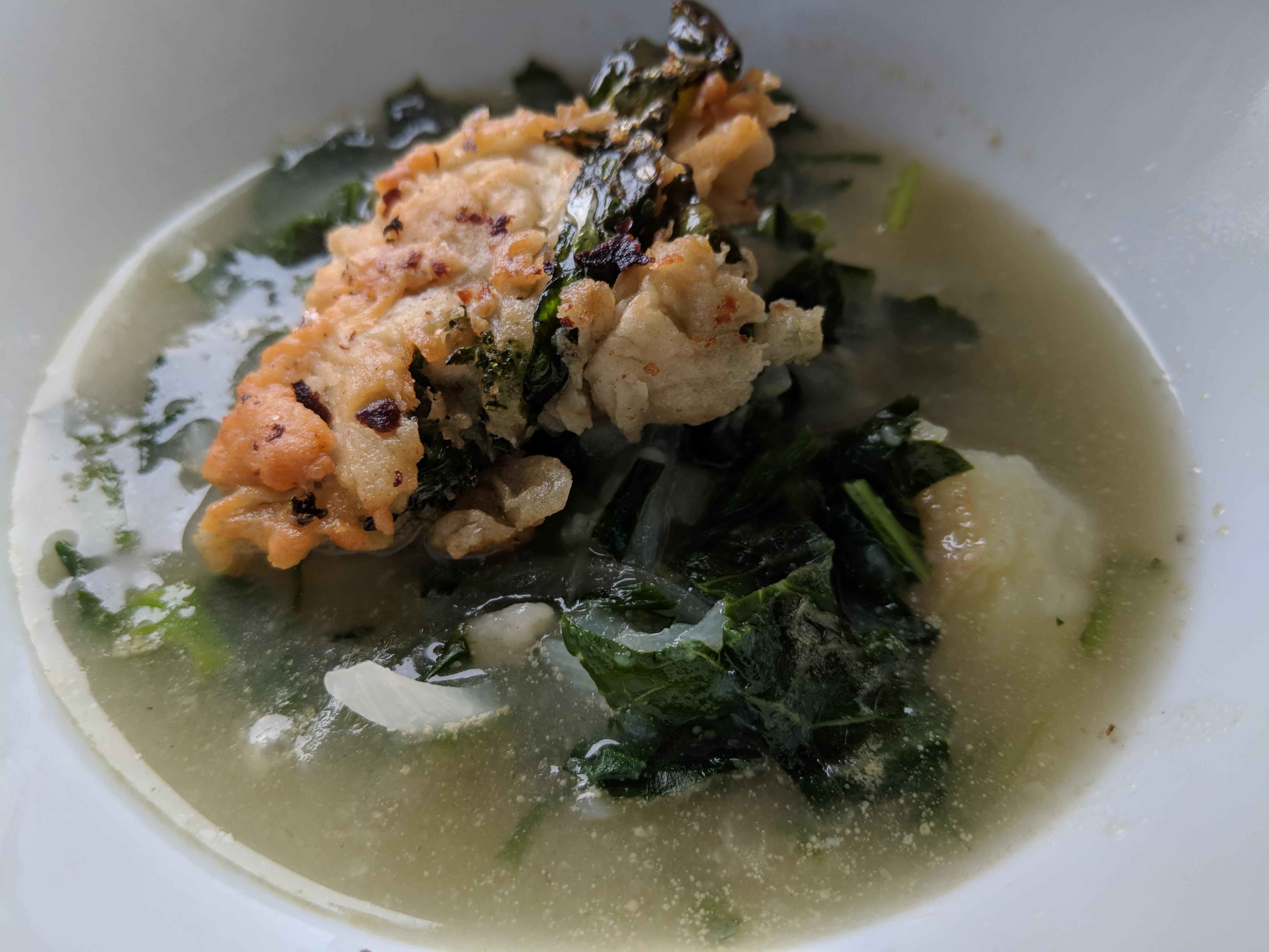 spring soup with wild vegetables