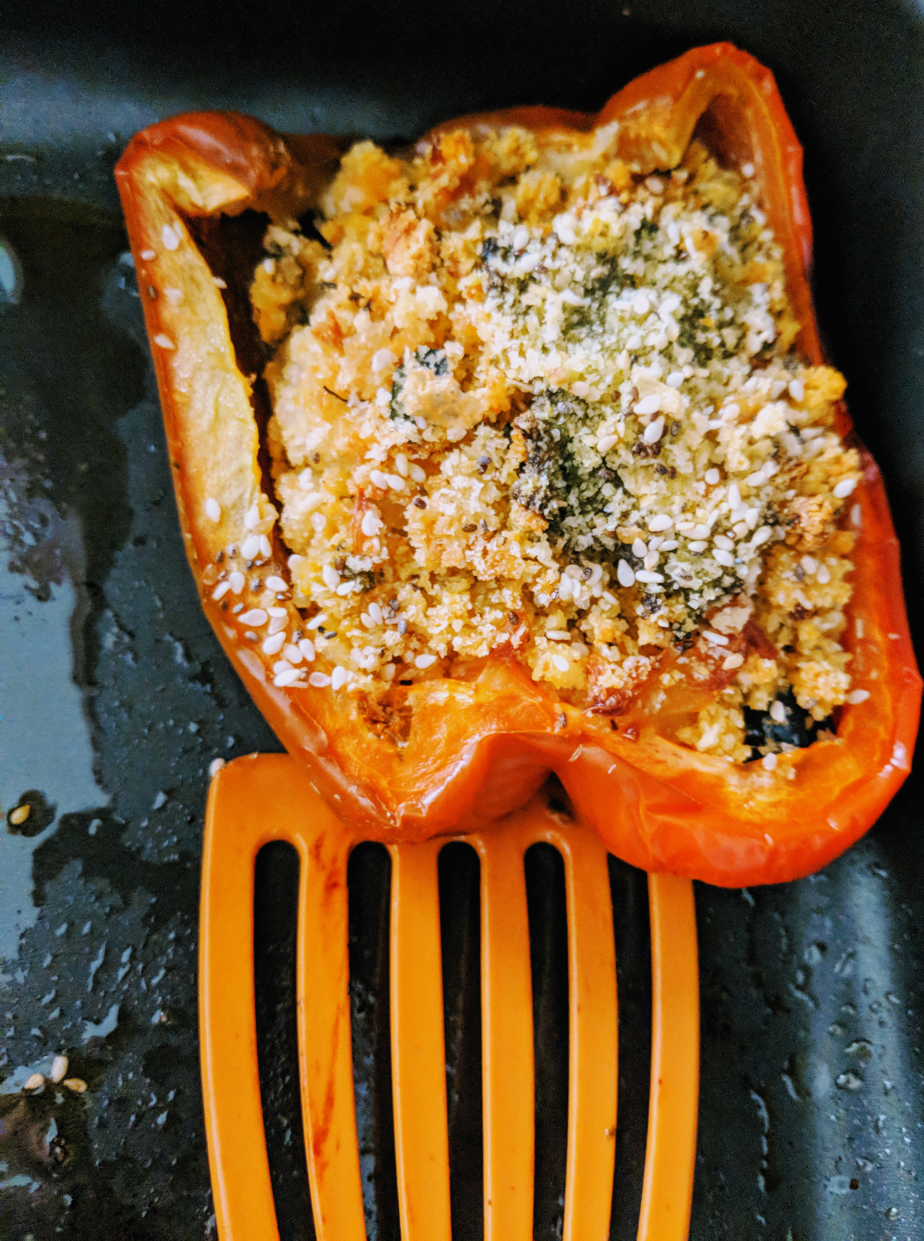 summer recipe stuffed roasted peppers