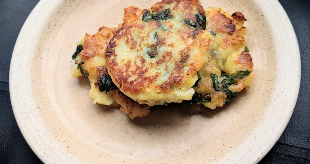 Irish Boxty with Nettle and Dandelion