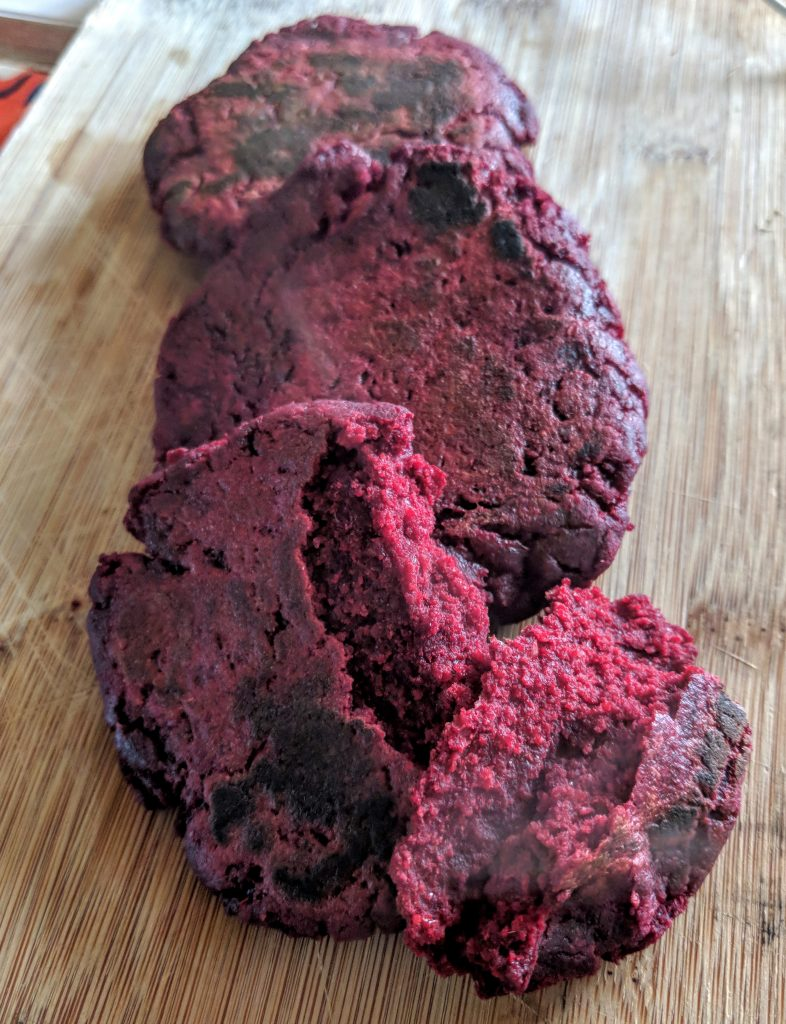 Beetroot, Barley and Oat Flatbread